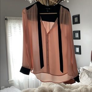 Blouse amazing condition pink and black large